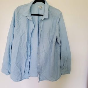 2/$20 old navy blue button down shirt